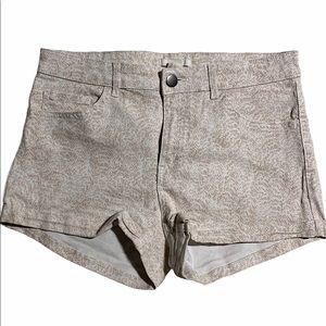 3/$30H&M snake print denim shorts